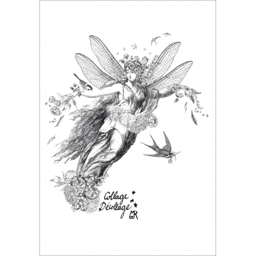 Carte postale Collage Décollage Mon Ange©
